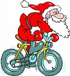 Pêre Noël à vélo